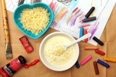 Waniliowa zupa mleczna z gwiazdkami