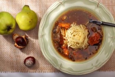 Zupa grzybowa z krajanką